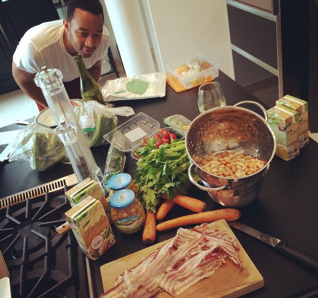 Cooking class with John Legend